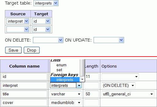 create table foreign key 2